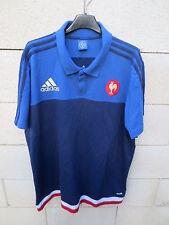 Polo rugby QUINZE DE FRANCE ADIDAS All Bleus shirt collection manches courtes XL