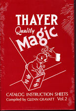 Thayer Quality Magic-Vol 2 Book-Birds Dice Escapes Flowers Illusions Cards-NEW!