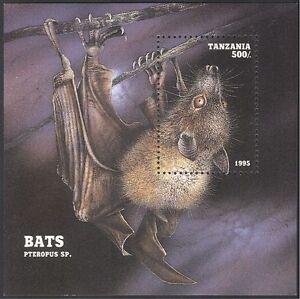 Tanzania 1995 Bat/Animals/Nature/Wildlife/Bats/Conservation m/s (b5882)