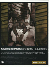 NAUGHTY BY NATURE Mourn You Trade Ad POSTER of Ride CD