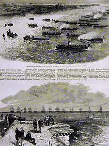 Harry Ogden KEY WEST NAVAL DRILL SOUTH BEACH w FULL STORY 1874 Art Print Matted