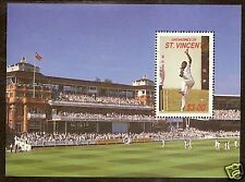 ST VINCENT GRENADINES 1988 CRICKETERS S/Sheet MNH