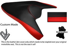 BLACK & RED CUSTOM FITS APRILIA 1000 TUONO V4 V4R APRC 11-13 REAR SEAT COVER