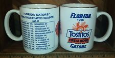 Florida Gators Football 1995 Season Tostitos Fiesta Bowl Coffee Mug Cup Lot of 2