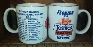 Florida Gators Football 1995 Season Tostitos Fiesta Bowl Coffee Mug Cup Lot of 2