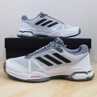 Adidas Barricade Club Tennis Shoes Men's Size 7.5 White Black Grey