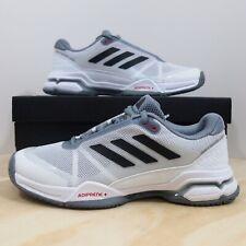 adidas Performance Barricade Classic Wide 4E Tennis Shoe, BlackSilver MetallicWhite