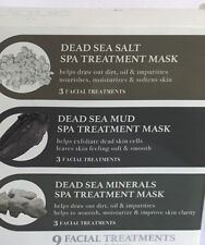 Facique 9 pc Dead Sea Salt Mud and Minerals Spa Treatment Mask Pack New Packs