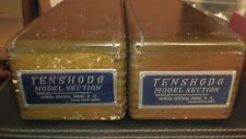 HO Brass Tenshodo ATSF Diesel AB Set With 2 Very Rare Wood Boxes PFM Japan AT&SF