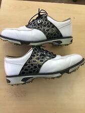 FOOTJOY GOLF 2019 DRYJOY TOUR Men's Shoes, WHITE / NAVY CROC, Size UK 8