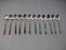 Boulenger, Métal argenté 12 cuillères à thé/café/dessert, Art déco, 14 cm, écrin