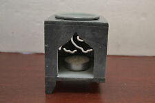 HANDMADE HAND CARVED SOAPSTONE INCENSE OIL AROMATHERAPY BURNER A