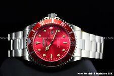 Invicta Men's 43MM Pro Diver Coin Edge Silver bracelet Cherry Red Quartz Watch