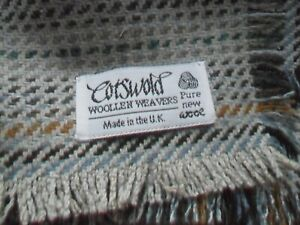 Vintage Cotswold Woollen Weavers 100% Pure Wool Throw