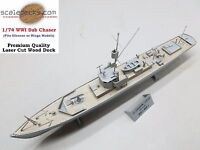 Wood Deck for 1/74 WWI Sub Chaser (fits Glencoe/Ringo) by Scaledecks [LCD-00]