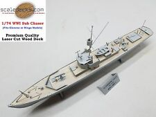 Wood Deck for 1/74 WWI Sub Chaser Glencoe or Ringo kits by Scaledecks.com