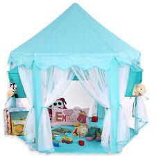 KIDUKU® Kinderzelt Babyzelt Spielhaus Spielzelt Prinzessin Bällebad Blau