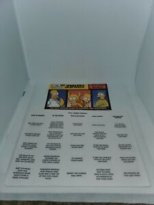 The Simpsons Edition Jeopardy Replacement Pad Of Answer Sheets and question book