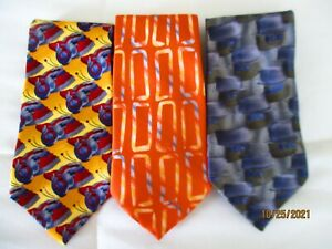 3 J Garcia 100% Silk Neckties LE Emerald City, New York New York & Collector Ed