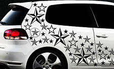 93 Sterne Star Auto Aufkleber Set Sticker Tuning Shirt Stylin WandtattooTribel x