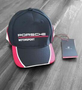 Porsche Motorsport Black White Baseball Cap Hat Kids WAP4300010K New w/ Tags