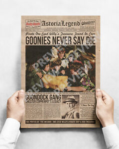 The Goonies - A3 Poster - Newspaper Style