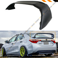 FOR 2014-2018 TOYOTA COROLLA MUG STYLE BLACK JDM STAND UP BIG TRUNK SPOILER WING