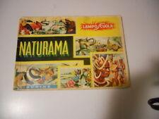 ALBUM FIGURINE NATURAMA LAMPO SCUOLA INCOMPLETO 1968 !!!