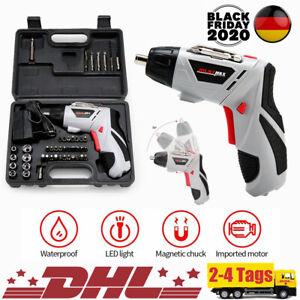 LED Elektro Akkuschrauber, klein, 46pc Set mit Koffer und Bits, 4.8V / 600mAH DE