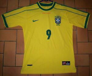 Maillot Brésil 1998 -  Ronaldo - Taille L (Mais taille comme un M)