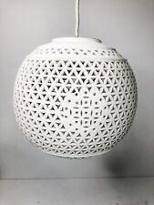 Blanco De Chine Hanging Lamp White Pierced Porcelain