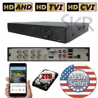 Sikker Standalone 8CH channel 1080P HDMI DVR Security System with 2TB hard drive