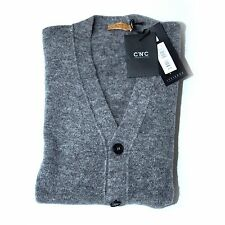 C'N'C' COSTUME NATIONAL MOHAIR MIX CARDIGAN GREY (M) NEW RRP £154