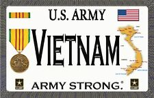 "U.S. Army - Vietnam - Army Strong - Magnetic Sign - 6"" L X 3.75"" H - Outdoor"