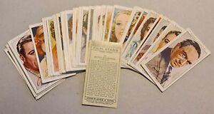 John Player Cigarette Cards : Film Stars - series 3 : loose set of 50