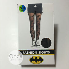 Primark Ladies DC Comics Batman Logo Fashion Stockings Tights Pantyhose L/xl