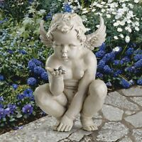 Life's Mysteries Cherub Design Toscano Exclusive Hand Painted Garden Statue