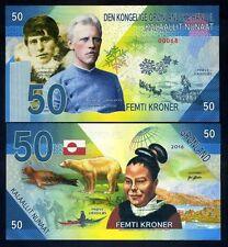 Greenland, 50 Kroner, 2017, Private Issue Kamberra, UNC > Rusmussen, Amundsen