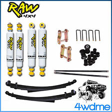 "Holden Rodeo RA RAW Front & Rear Shocks + Torsion + Leaf Spring 2"" HD Lift Kit"