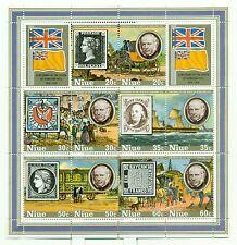 STAMP ON STAMP - NIUE 1979 Sir R. Hill Centenary  block