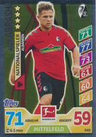 Match Attax Extra 17 / 18 - 549 - Amir Abrashi - Nationalspieler