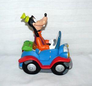 """Goofy In Car Disney Piggy Bank Change Coin Hard Rubber 8x7"""""""