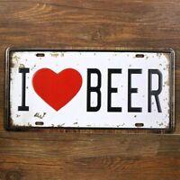 Signo de tiempo de cerveza Imagen Placa De Metal De Arte Pared Arte del metal A1 A2 A3 A4