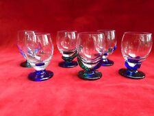 6 petits verres à liqueur cristal Murano, Verres design