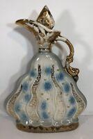 Vintage 1970 JIM BEAM CHARISMA Blue Gold Regal China Executive Decanter Bottle