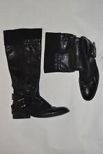APEPAZZA black leather tall boots moto size 9.5 m