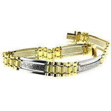 14 Kt Yellow & White Gold Men's Fashion Link Bracelet