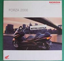 HONDA SCOOTER FORZA 2006 PUBBLICITA DEPLIANT CATALOGO BROCHURE