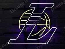 "Los Angeles Lakers 17""x14"" Neon Sign Lamp Light Glass Bar With Dimmer"