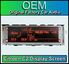 CITROEN c2 schermo di visualizzazione, STEREO rd4 LCD Multi Funzione Orologio Cruscotto NUOVO di zecca!!!